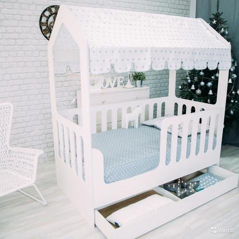 Кровать домик с ящиком