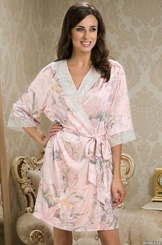 Короткий халат–кимоно Mia-Amore 5953 EDEM (70% шелк)
