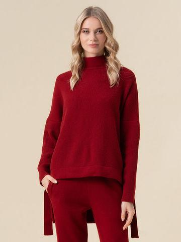 Женский свитер красного цвета из 100% кашемира - фото 2