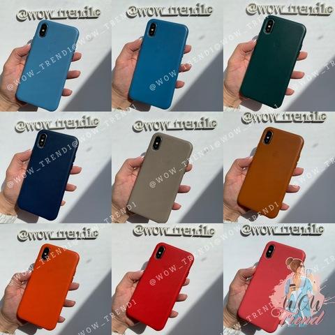 Чехол iPhone XS Max good Leather Case