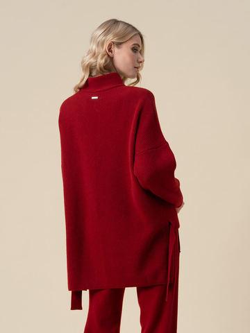 Женский свитер красного цвета из 100% кашемира - фото 4