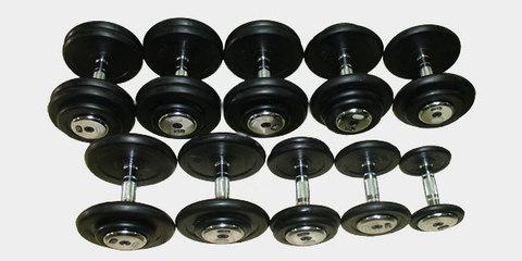 Гантельный ряд обрезиненный Matrix (10 пар)