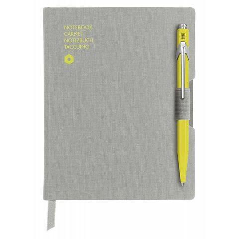 Записная книжка и ручка Carandache Office (8491.451) A6 192стр серая и ручка 849 желтая