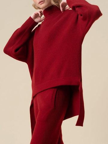 Женский свитер красного цвета из 100% кашемира - фото 3