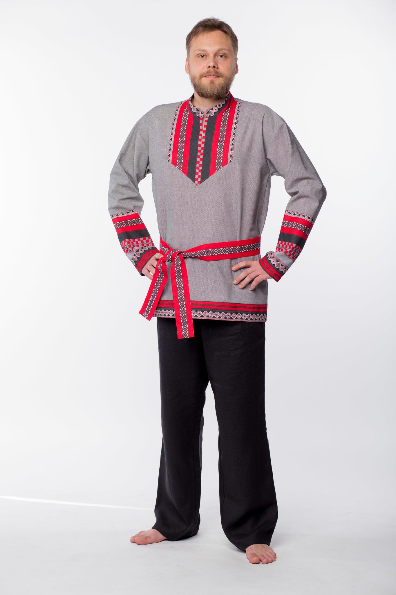 Мужская рубаха Чалдоны с поясом