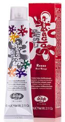 Оттенок Красный Крем-краска для волос чистый пигмент Lisap Splasher 60мл
