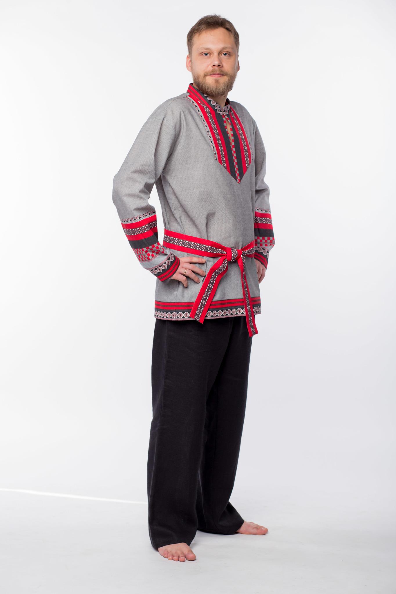 Мужская рубаха Чалдоны вид сбоку