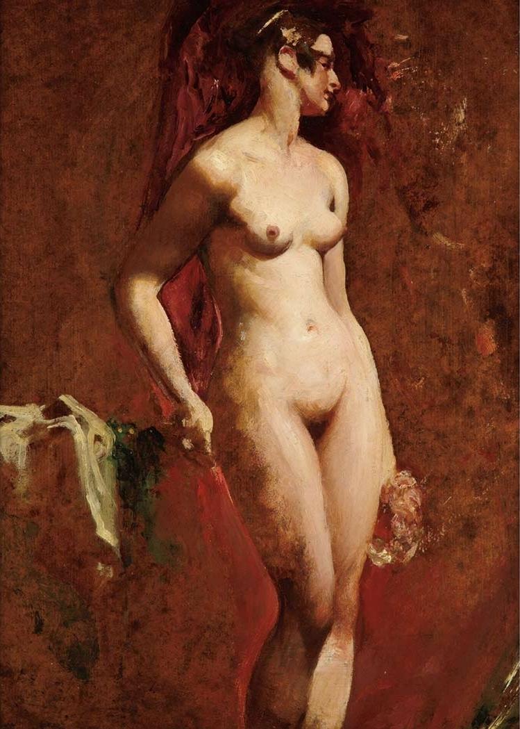 Уильям Этти. 1845. Стоящая обнаженная (Standing Female Nude). 57.8 х 43.8. Частное собрание.