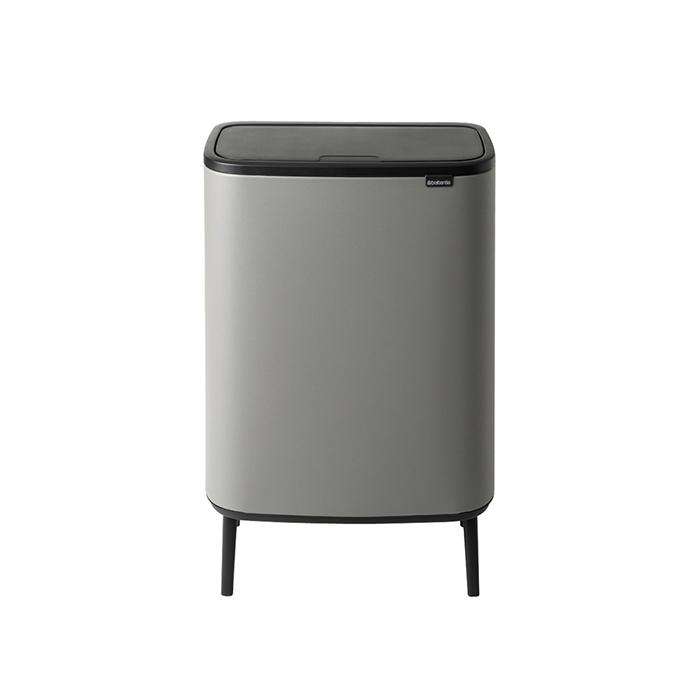 Мусорный бак Touch Bin Bo Hi (2 х 30 л), Минерально-серый, арт. 130663 - фото 1