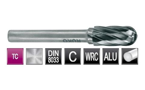 Бор-фреза твердосплавная C(WRC) 6,0х16х6х56мм HM ALU Ruko 116020A