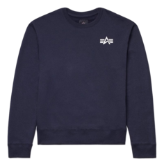Свитшот Alpha Industries Small Logo Sweatshirt (синий)