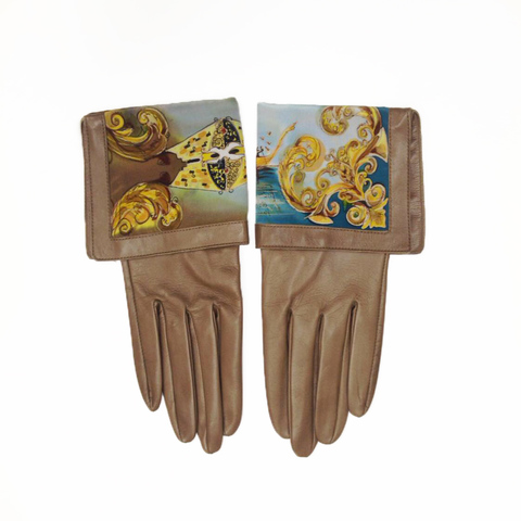 Кожаные перчатки Венецианские