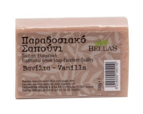 Натуральное оливковое мыло с ванилью Bellas 100 гр