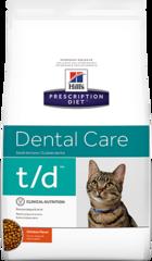 Ветеринарный корм для кошек Hill`s Prescription Diet t/d Dental Care, для здоровья зубов, с курицей
