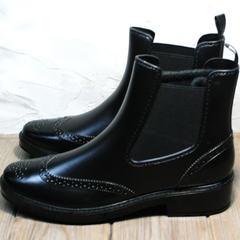 Резиновые ботинки W9072Black