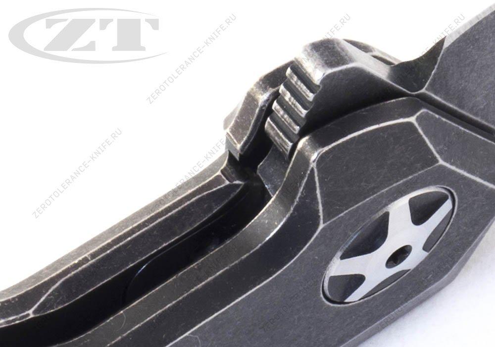 Нож Zero Tolerance 0095BW smooth handle - фотография