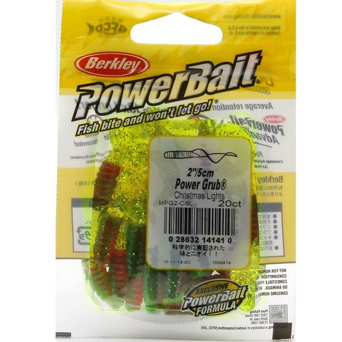 Приманка силиконовая Berkley Powerbait Power Grub MPG2-CSL Christmas Lights 2