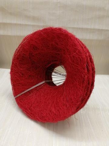 Каркас для букета гладкий (сизаль, диаметр: 15 см) Цвет: красный