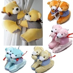 Teddy Bear Curtains Buckle Plush