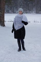 Оренбургский пуховый платок 71
