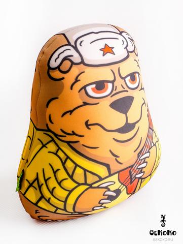 Подушка-игрушка антистресс «Медведь с балалайкой» 4