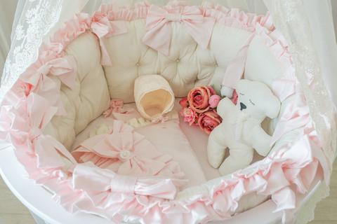 Комплект в круглую/овальную кроватки Экрю