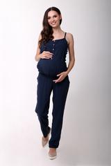 Комбинезон для беременных и кормящих цвет темно-синий