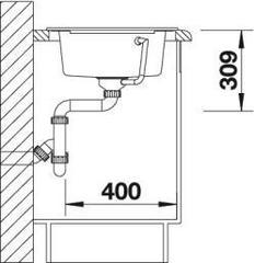 Мойка кухонная Blanco Rondoval 45S - вид сбоку