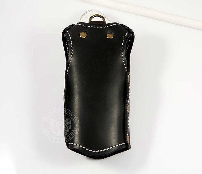 KK405-1 Крутая мужская ключница из кожи в виде жилета, ручная работа фото 04