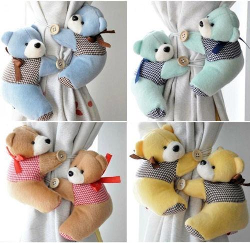 Teddy Bear Curtains Buckle Plush