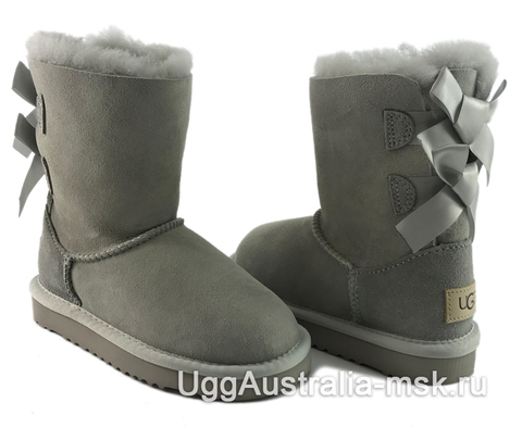 UGG Kids Bailey Bow II Gray - Violet