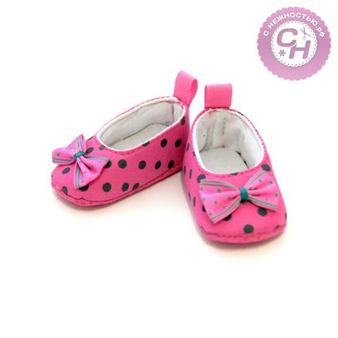 Обувь для кукол - туфли из ткани, 7,8 см по подошве, 1 пара.