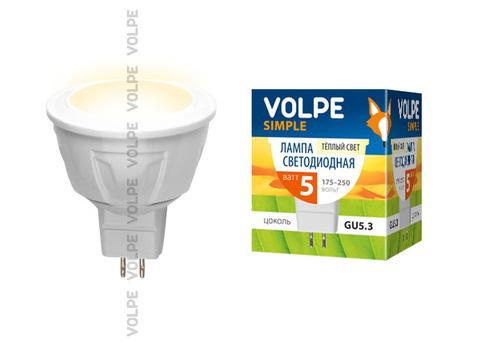 LED-JCDR-5W/WW/GU5.3/S Лампа светодиодная Volpe. Форма