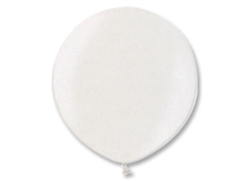 Большой шар металлик белый