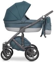 Детская коляска Рант Aura 3 в 1 цвет 01 (серый/малахит)
