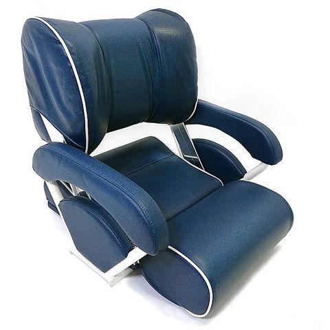 Сиденье мягкое складное TWIN 46 FLIP-UP, синее