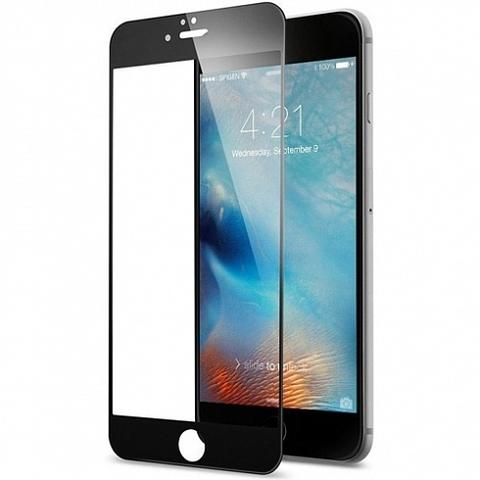 Стекло защитное 2D для IPhone 7+/8+ (Черное)