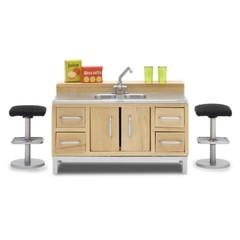 Мебель для домика Стокгольм Кухонный остров с мойкой, Lundby