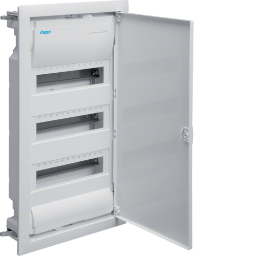 Щиток для пустотелых стен,Volta,IP30,3x12М,DIN43871, глубина уст 90мм, RAL9010