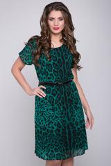 <p>Элегантное платье из воздушного шифона с модным принтом на трикотажном подкладе. Ворот горловины - округлый, рукав - цельнокройный. Ремешок в подарок! (Длины: 46-102см; 48-103см; 50-104см; 52-105см)</p> <p></p>