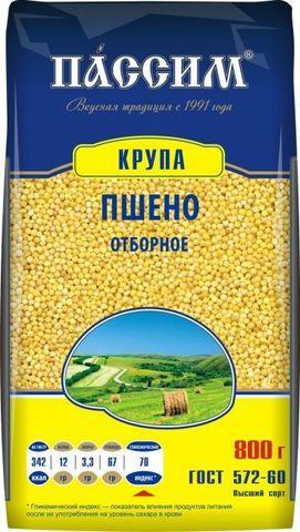 """Пшено """"Пассим"""" отборное 800г"""