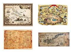 Постер Пиратская карта сокровищ в ассортименте