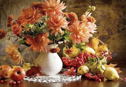 Алмазная Мозаика 30x40 Натюрморт с фруктами