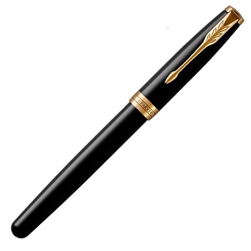 Набор подарочный Parker Sonnet - LaqBlack GT, перьевая ручка, M + чехол