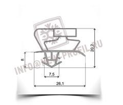 Уплотнитель 86*56 см для холодильника Снайге RF 310(холодильная камера) Профиль 017
