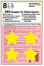 ABS-противоскользящие наклейки Regia для носков желтые звезды (8 шт.)