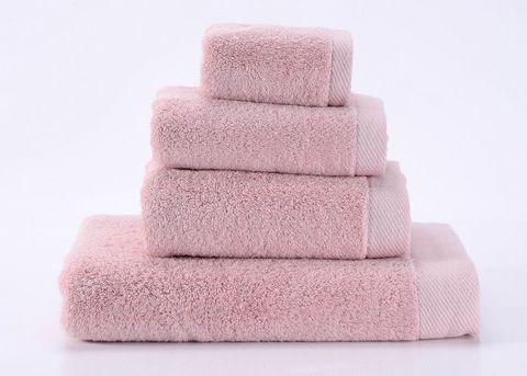 Seashells-4 светло-розовое махровое  полотенце Valtery
