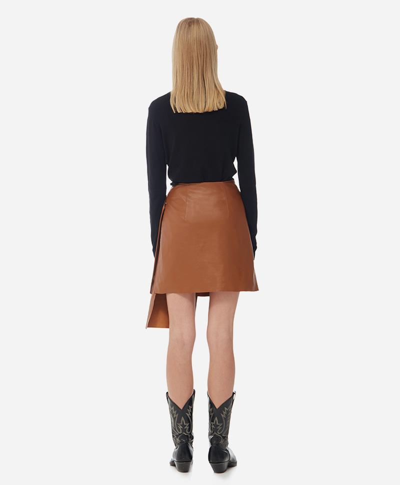 Кожаная мини юбка Assimetric Skirt
