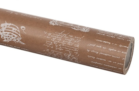 Бумага вощеная 65 см 10м, Herbs, бежевый