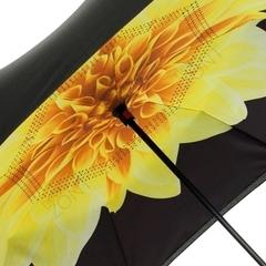 Обратный зонт umbrella желтый цветок, механика